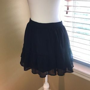 Abercrombie and Fitch blue ruffle skirt